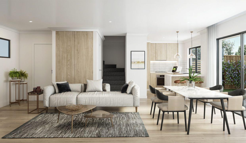 14-18 Wattlebrush Court_Unit B_Type 2_Ground Floor_Living Dining Kitchen _ Patio_01